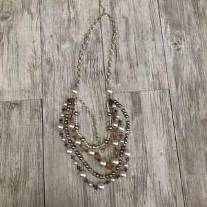 Jewelry - Silver and pearls long necklace